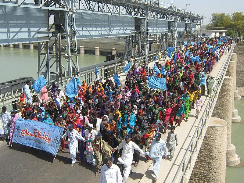 Fisherfolk in Sindh protest for more freshwater in the Indus. Source: Pakistan Fishworkers' Forum
