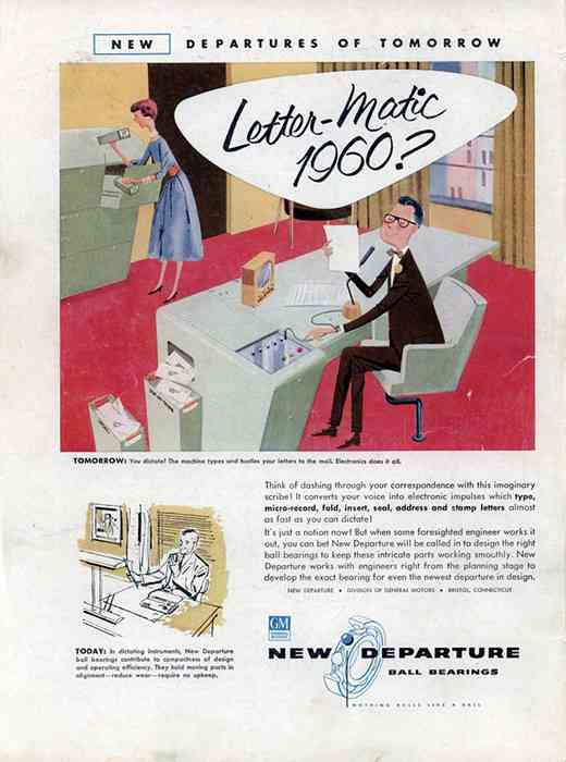 """Letter-Matic 1960?"" New Departure Ball Bearings."