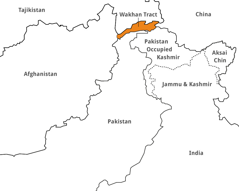 The Wakhan Corridor is 12.87 kms at its narrowest. India does not recognise Pakistan-occupied Kashmir that, post 1947, borders the Wakhan, and thus India, in its view, has a frontier with Afghanistan at Wakhan.