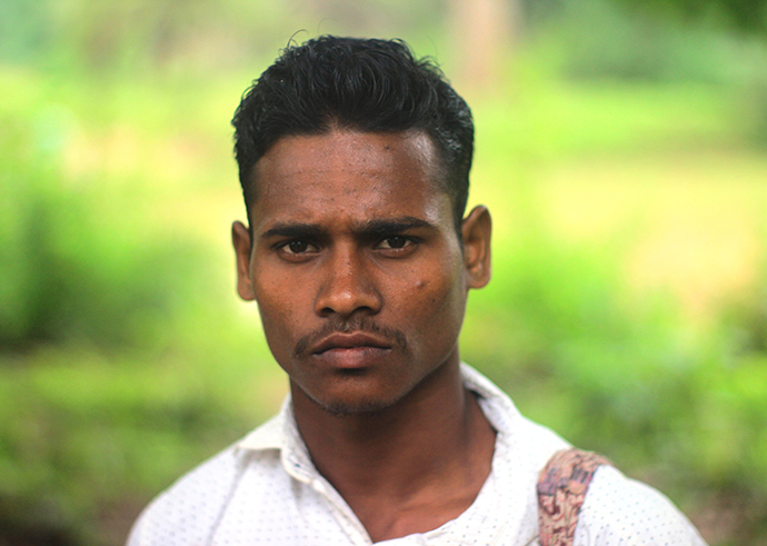 Rahula Nayak of Madaguda village lost his parents on July 26, 2015. SOG jawans said they were engaged in an encounter with Maoists and the Maoists killed the couple. Photo by Chitrangada Choudhury.