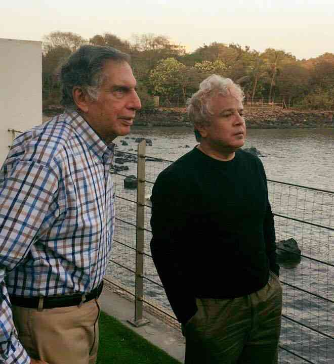 With Ratan Tata. Image courtesy: Facebook/Suhel Seth. April 16, 2016