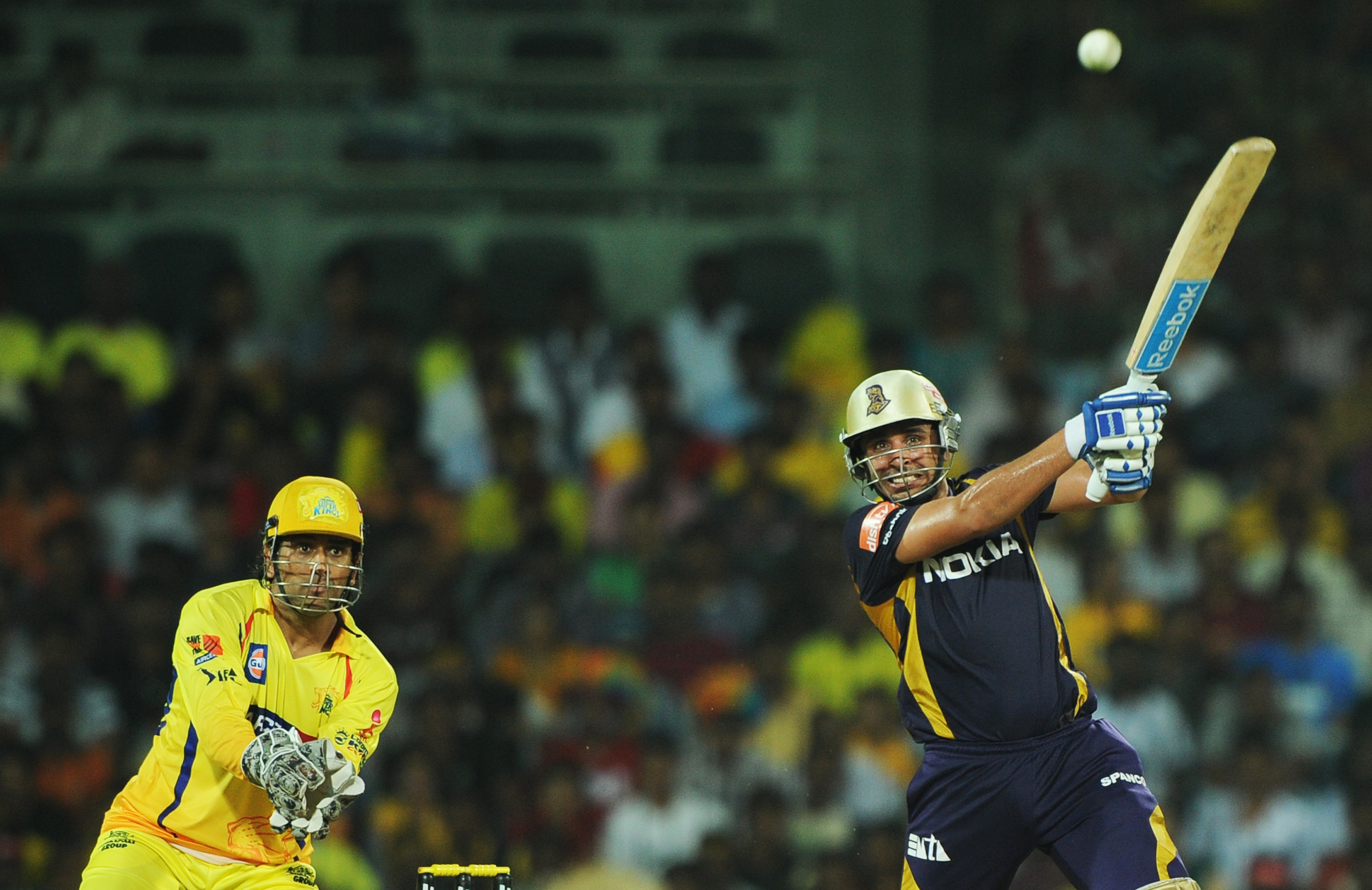 Manvinder Bisla was the Man of the Match in the IPL 2012 final against CSK. AFP
