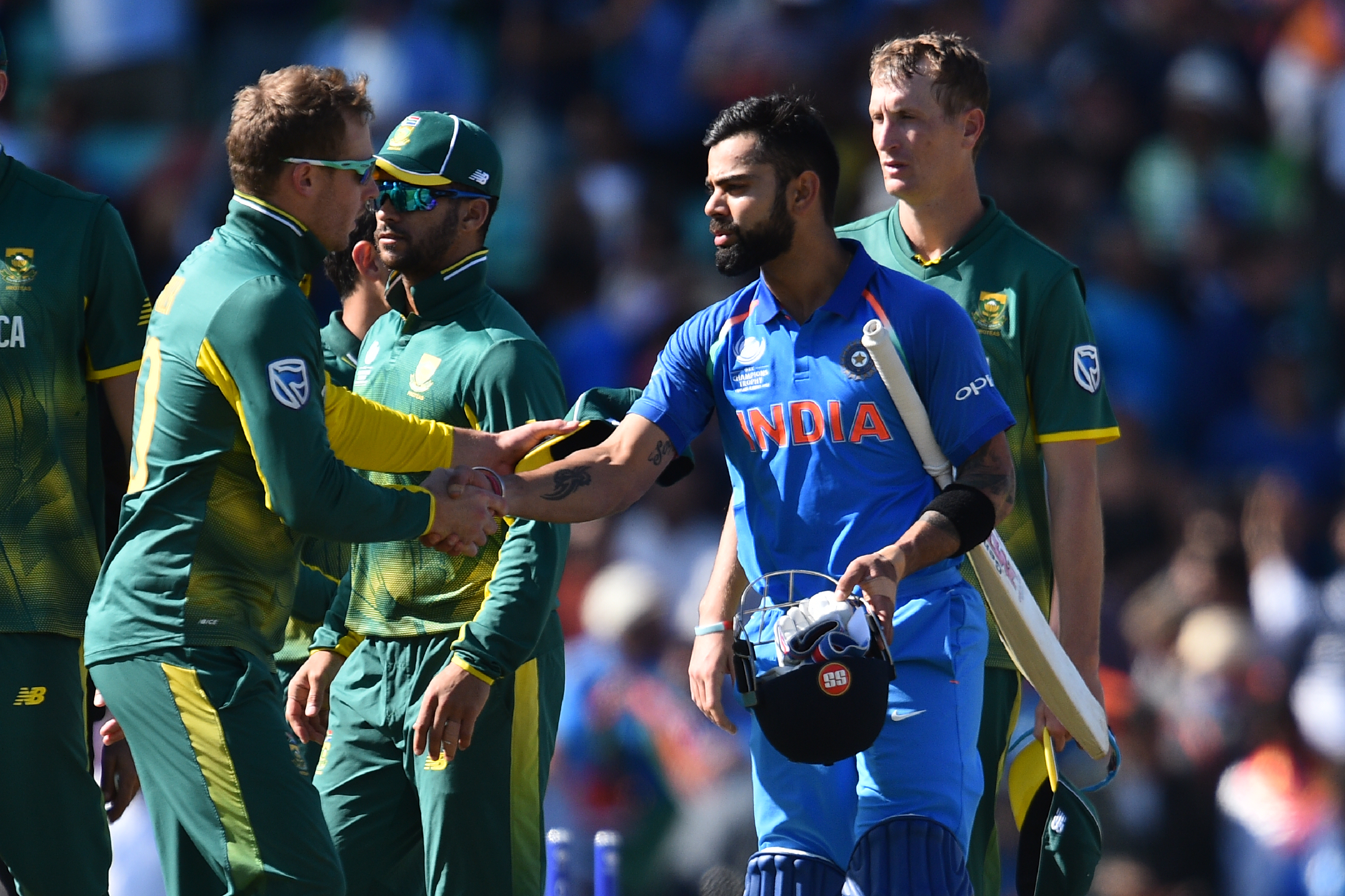 India will either face Bangladesh or England in the semi-finals. Photo: AFP