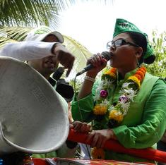 Bollywood actress Rakhi Sawant takes her RAP campaign on the road