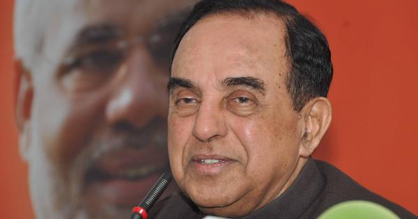 Subramanian Swamy warns Modi the economy is in a tailspin and about to crash