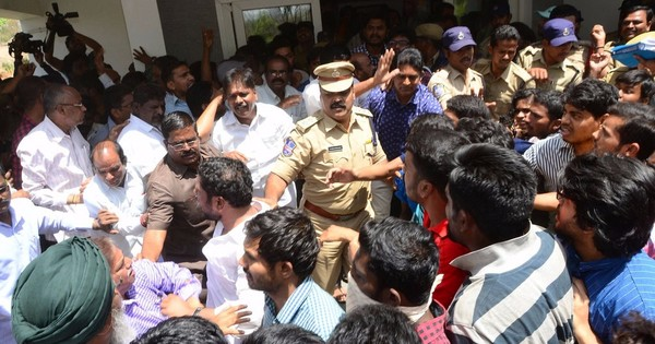 Hyderabad University: 70 detained as students protest to demand vice chancellor's resignation