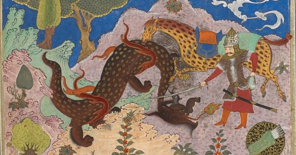 In pictures: Eight and ninth century stories of the Persian hero Rustam