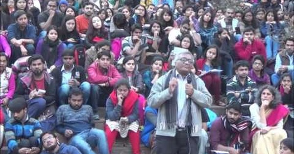 The nation cannot be defined in terms of borders alone: watch JNU Professor Gopal Guru's historic public lecture