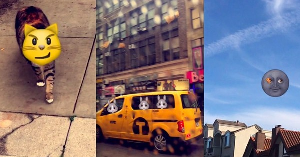 Snapchat's new feature lets you insert emojis into your real-world videos