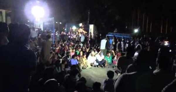 Denied entry into HCU campus, Rohith Vemula's mother, brother stage sit-in protest outside: Watch