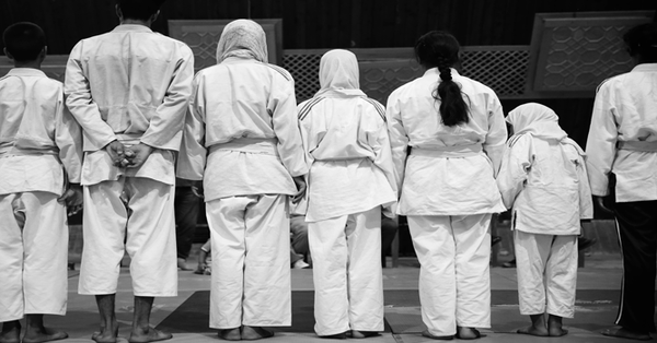 In pictures: With hijabs and judo throws, young Kashmiri girls are packing a punch