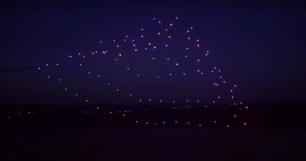 Watch 100 drones fly in formation to Beethoven's Fifth Symphony (and set a world record)