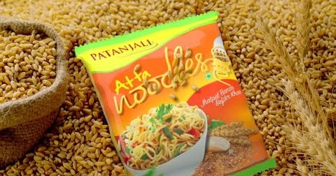 "Should this commercial for Baba Ramdev's noodles be asking ""Iss noodle mein kya hai?"""