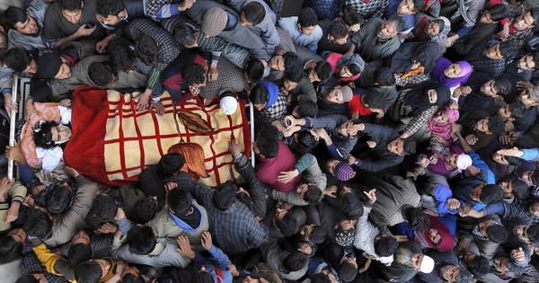In pictures: Funeral processions for militants in Kashmir have a troubling message for government