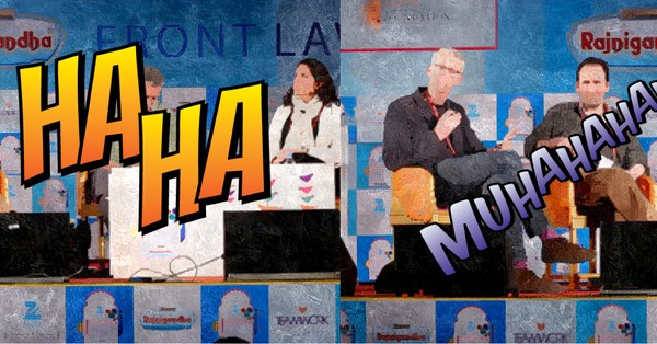 Things people really say (and do) at literary festivals in India