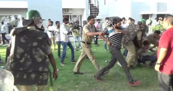 Watch the police action against protesting students at University of Hyderabad