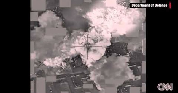 Watch: millions of dollars worth of fluttering cash after a US airstrike on an ISIS depot