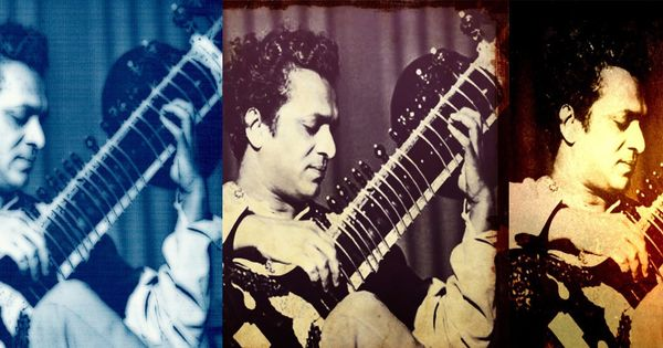 Enjoy Ravi Shankar's mastery over the sitar in this rendition of raag Yaman Kalyan