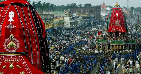 Stories about Lord Jagannath flutter out like bands of butterflies during the monsoon rath yatra