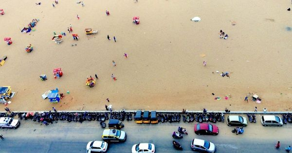 This year's award-winning iPhone photographs include an aerial shot of Chennai's Marina Beach