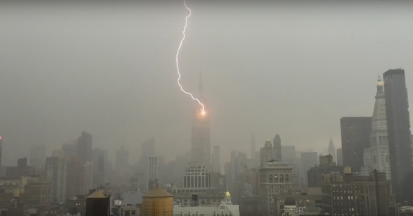 Captured on camera: The exact moment lightning struck the Empire State building