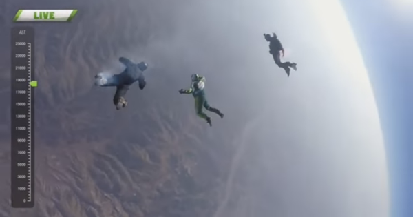 Watch (breathlessly) as Luke Aikins jumps from a height of 25,000 feet – without a parachute