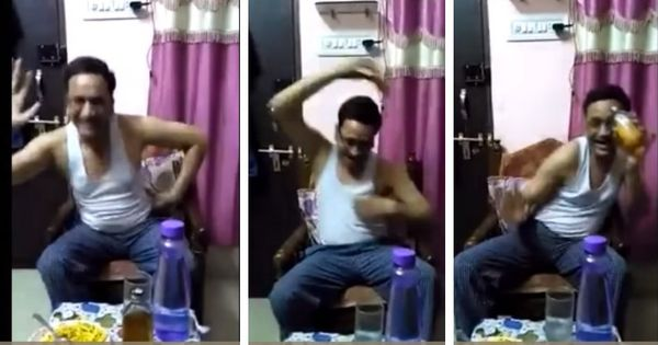Watch (along with over a million others) this dancing man celebrating 'azaadi' from his wife
