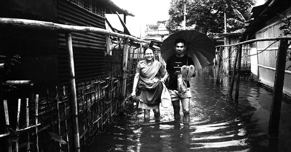 The plight of the protector: Scenes from a flooded police colony in Assam