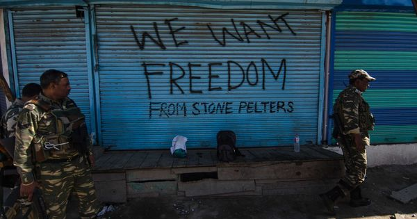 Writing on the wall: In Kashmir, graffiti meets counter graffiti