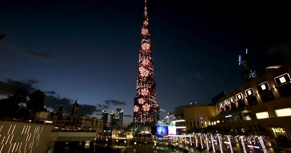 Watch: The world's tallest building becomes (probably) the world's biggest LED screen