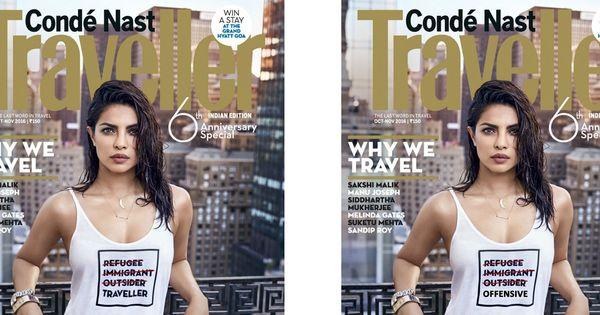 Priyanka Chopra's magazine cover decried on Twitter as 'appalling' and 'privilege-strutting'