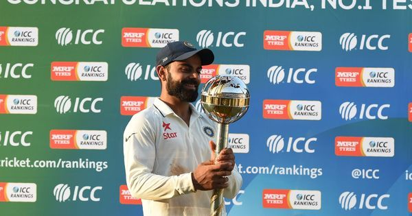 India hold on to top spot in ICC Test rankings, South Africa six points behind in second place