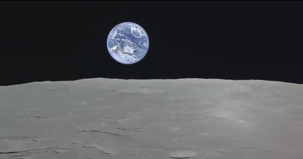 Videos: Have you seen an 'earthrise' from the moon? Obviously not. But now you can