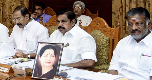 A heated day in Tamil Nadu: Political meetings, income tax raids and posters near AIADMK office