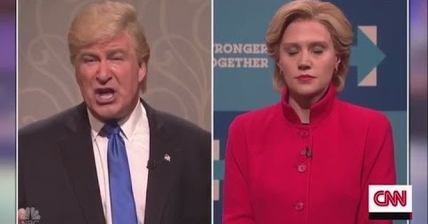 Watch Alec Baldwin as Trump and Kate McKinnon as Clinton ask people to vote in the US elections