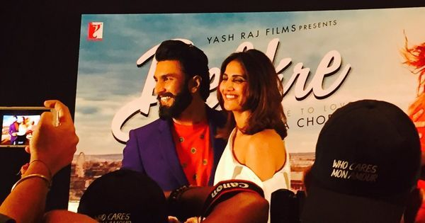 At 'Befikre' song launch, Ranveer Singh is full of beans, kisses and one-liners