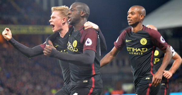 Premier League: Man City go joint top after Yaya Toure double at Crystal Palace