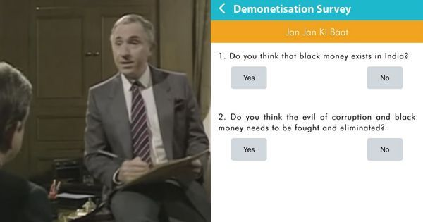 Watch: When 'Yes Prime Minister' explained how the PM's survey on demonetisation works