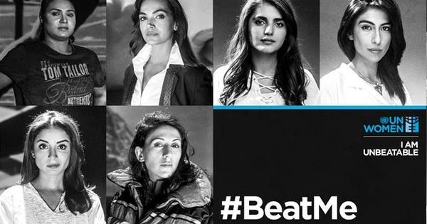 "Pakistani women invite men to ""beat"" them in this UN video. It's a strong message, even if 'copied'"