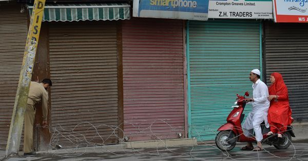Are shops being burnt down in Kashmir towns to enforce the hartal?