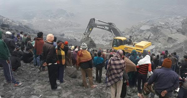 Photos: Nine dead, several others trapped under debris in Jharkhand mine collapse