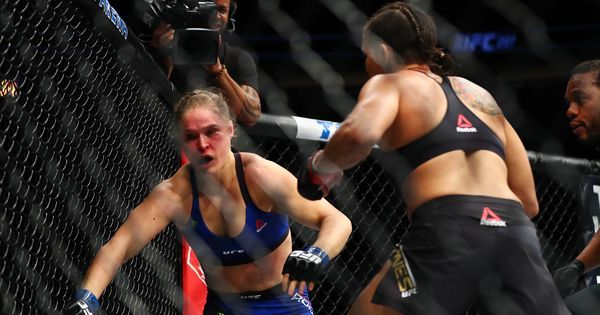 Watch: Former UFC champion Ronda Rousey's comeback after 13 months lasts just 48 seconds