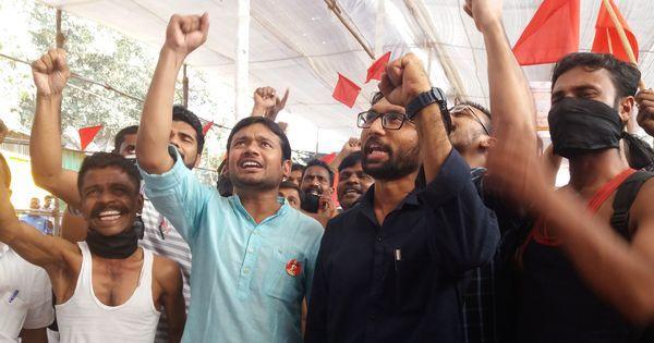 In Mumbai, Kanhaiya Kumar and Dalit leader Jignesh Mevani give a boost to sanitation workers' rally