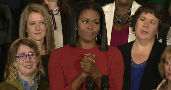 'Don't be afraid': Michelle Obama, in tears, delivers her final farewell speech