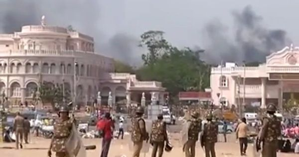Jallikattu protests: Chaos after reports of police action and vehicles being set on fire