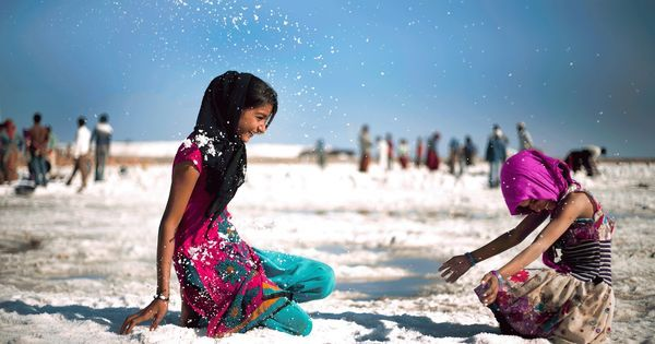 Photos: A day in the uneasy life of a child of Gujarat's saltpans