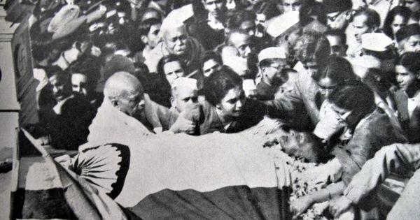 महात्मा गांधी की अंतिम यात्रा का दुर्लभ वीडियो