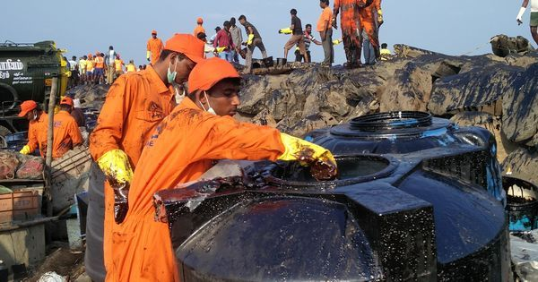 Chennai oil spill: Centre issues notice to port authorities, cleanup continues a week after incident