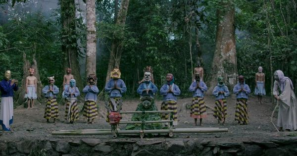 The use of masks in film 'Hema Hema' earns acclaimed director Khyentse Norbu a ban