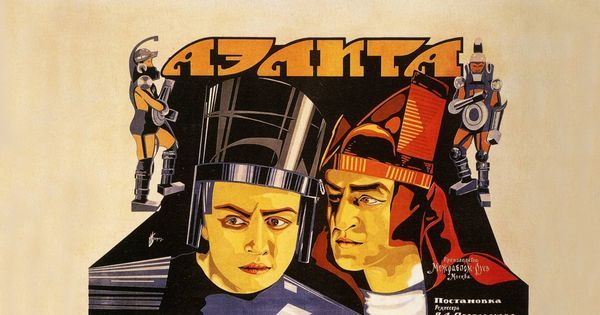 A kiss on Earth causes turmoil on Mars in the Russian silent classic 'Aelita'
